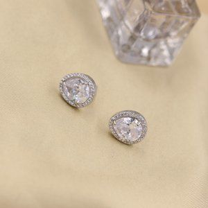 Henri Bendel Shiny Zircon Stud Earrings